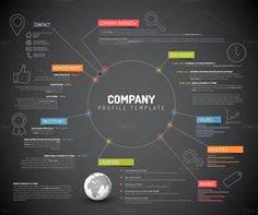 Dark Company Profile by Orson on @creativemarket