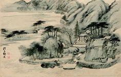 (Korea) 계상정거도, 1749 by Jeong Seon (1676-1759). Korean National Treasure No.585. Private collection.