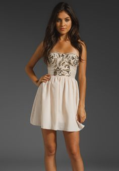 LADAKH Red Carpet Dress in Natural at Revolve Clothing - Free Shipping!