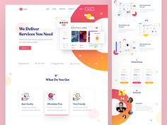 SaaS landing page by Shamima Nasrin on Dribbble Landing Page Inspiration, Ui Design Inspiration, Landing Page Examples, Landing Page Design, Website Design Layout, Web Layout, Website Home Page, Design Responsive, Mailer Design