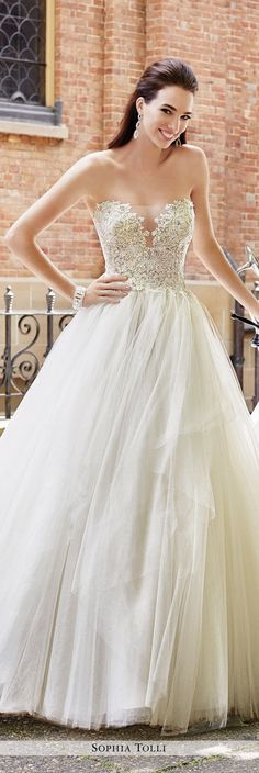 Strapless Tulle Ball Gown with Sweetheart Neckline