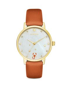 kate spade new york Scorpio Metro Leather Strap Watch, 34mm