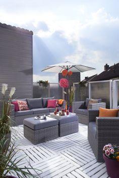 Loungeset Toledo: landelijk-stoere familielounge voor tuin, dakterras en balkon #leenbakker