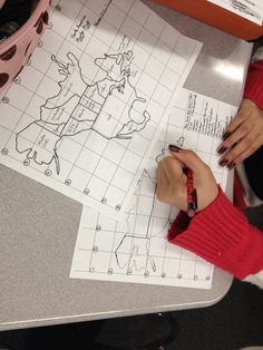 Geography - Practicing mapping the world by heart.