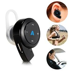 Awesome Abco Tech Mini Bluetooth Headphones- Earpiece - with Hands Free Calling and Crystal Clear Sound