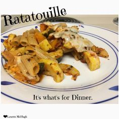 Ratatouille over whole wheat pasta is a very hearty, yet healthy meal that you can make for your whole family! If you make this is a big casserole dish, it will definitely last a week :)  REPIN if you will try it!