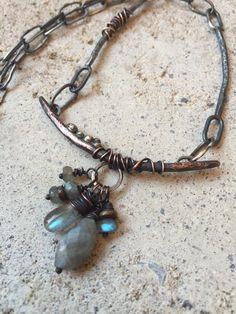 Labradorite necklace by Studio Luna Verde