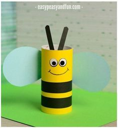 Have a toilet paper roll? Here are some easy toilet paper roll crafts ideas that you can teach your preschooler or older kid. Bee Crafts For Kids, Spring Crafts For Kids, Diy For Kids, Craft Kids, Ladybug Crafts, Owl Crafts, Craft Stick Crafts, Craft Sticks, Paper Towel Roll Crafts