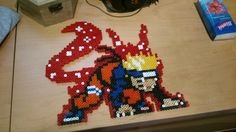 Naruto Kyuubi(first tail) Hama beads by Quico-kun on deviantART