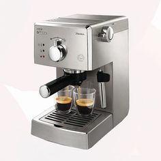 This Philips Saeco Poemia Class espresso machine features a powerful pump to produce incredibly tasty espresso. This espresso machine has a contemporary look with a brushed stainless steel finish that is both stylish and durable. Cappuccino Maker, Espresso Maker, Coffee Maker, Machine A Cafe Expresso, Espresso Machine Reviews, Best Espresso, Espresso Coffee, Saeco Espresso, Coffee Coffee
