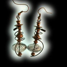 "Swirl Hookah Earrings Copper Finish Black Tip by HookahDreams, $24.00.   ""Dreams are manifestations of identities.""  Kathy Acker"
