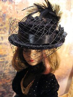 Silver-Dots-a-Doll-Hat-for-Ellowyne-Wilde-and-friends by Dragonsgate