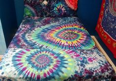 Tie Dye Bed Sheet Set Custom Made & by BarefootLazerTieDye on Etsy