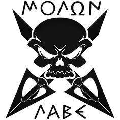 Til Death Window Decal Sticker Lifestyle Graphix Skull Arrows Molon Labe