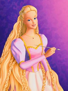 Barbie as Rapunzel This was my Rapunzel. She had long hair but no freakishly long hair and she had a dragon as a friend. Seriously Barbie Rapunzel wins over Disney Rapunzel any day. Barbie Rapunzel, Rapunzel Movie, Disney Rapunzel, Barbie Princess, Barbie Fairytopia, Barbie Fashionista, Barbie Furniture, Lego Christmas Tree, Japonese Girl