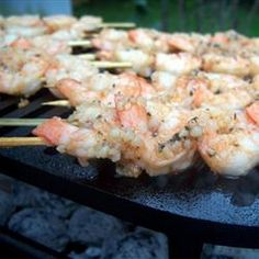 Grilled shrimp marinated in tomato sauce, red wine vinegar, basil, and cayenne pepper.