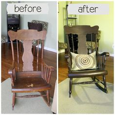 Rocking Chair Redo Using Rustoleum Cabinet Transformations Kit Rustoleum Cabinet Transformation, Cabinet Transformations, Rocking Chair Redo, Man Projects, Project Ideas, Interior Decorating, Interior Design, Decorating Ideas, Young House Love
