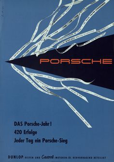 PORSCHE POSTERS, 1950S
