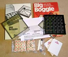 Unused and Complete. Contents in very good condition. Dice Games, Word Games, Parker Games, Boggle Game, Word Search Games, Word Puzzles, Up Game, Family Games, Contents