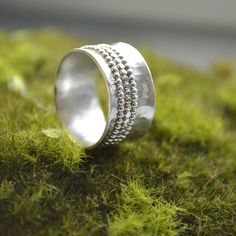Bombón Spinner silver ring. Beautiful, handmade silver ring with delicate details.  There are so many wonderful jewelry creations on this site, it's hard to pick my favorite!