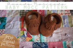 The BEST mocc pattern I've found! Baby & Toddler Moccasin Sewing Pattern PDF by norisadaphotography