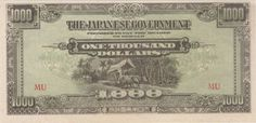 Banknote: $1000 Dollars Malaya Japanese Invasion Money Currency Unc Banknote Bill Jim Wwii