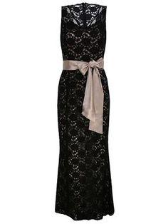 long black dresses ruffles lace | Rihanna stuns X Factor in black lace dress