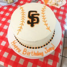 SF Giants baseball cake