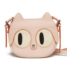Cartoon cute cat shoulder messenger packet