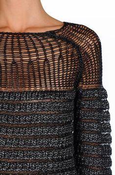 """knitmood: """" Alberta Ferretti   source: Knit Mood """""""