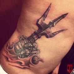 Anomaly Tatouages - Tricky #anomaly #tatouage #tricky #poseidon #tattoo