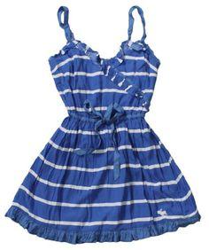 Abercrombie & Fitch Women's Ruffled Dress (Blue « Clothing Impulse