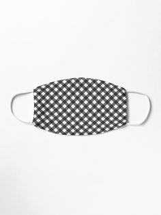 Classic Black and White Plaid Face Mask