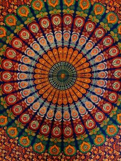 Queen Size Indian Tapestry Bedding, Hippie Mandala Wall Hanging, Bohemian Tapestry Room Decor, Hippie Mandala Beach from Trade Star Exports. Indian Tapestry, Bohemian Tapestry, Mandala Tapestry, 1440x2560 Wallpaper, Hippie Wallpaper, Tapestry Bedding, Hippie Art, Psychedelic Art, Tapestry Wall Hanging