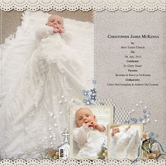 scrapbooking ideas for christening | christening scrapbook pages | Christopher's Baptism