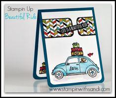 Stampin Up Beautiful Ride by Sandi @ www.stampinwithsandi.com