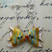 Keltaiset kultakalat 18€ #korvistaivas #korvakoruparatiisi #uniikitkorvakorut