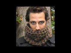 bufanda o cuello de hombre en ganchillo o crochet facil punto a punto - YouTube