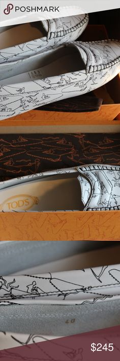 TODDS TODS MOCCASINS LOAFERS SIZE 40 BRAND NEW. MADE IN ITALY. BOX AND DUST BAG INCLUDING. TODS Shoes Moccasins