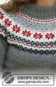 """Knitted DROPS hat and jumper with Norwegian pattern in """"Alpaca"""". Size: S - XXXL. Baby Knitting Patterns, Scarf Patterns, Knitting Tutorials, Finger Knitting, Free Knitting, Drops Design, Laine Drops, Fair Isle Pattern, Knit Crochet"""