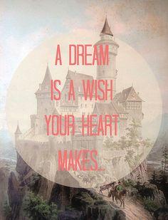 Dromen zijn hartewensen.