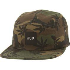 HUF Plantlife Volley Adjustable Cap (woodland camo) HUFHT33016WCM - $36.00