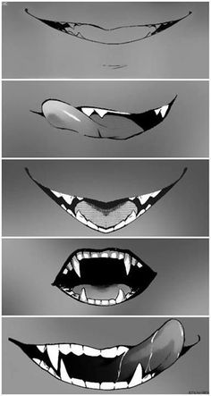 Sebastian Michaelis<< Ok, is it just me that finds fangs and like sharp canines really attractive. <-- yes, it's super attractive ~ Black butler Drawing Techniques, Drawing Tips, Drawing Sketches, Art Drawings, Drawing Base, Manga Drawing, Anime Mouth Drawing, Smile Drawing, Boca Anime