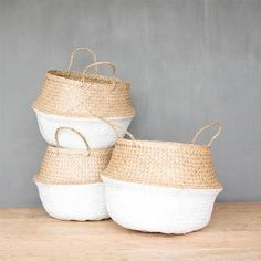 Seagrass Baskets In White