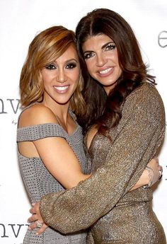 Melissa Gorga and Teresa Giudice at the first fashion show for Envy by Melissa Gorga at Macaluso's in Hawthorne, New Jersey on March 30, 2016...