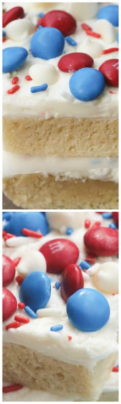 Patriotic Sugar Cookie Bars ~ Amazing