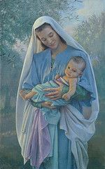 3// Nathan Greene is the artist of this lovely picture of Mary & baby Jesus..... He is a 7th Day Adventist who truly loves his Lord & this love shows in all his paintings.....