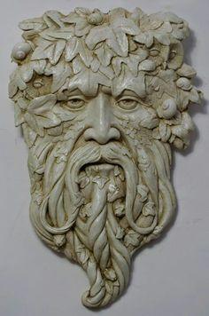 Gort Green Man Sculpture: natural finish - Spirit of the Green Man - Modern Design Holly King, Tree Faces, Man Faces, Nature Spirits, Sculpture Art, Sculpture Ideas, Human Sculpture, Metal Sculptures, Abstract Sculpture