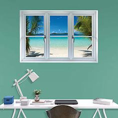 Virgin Islands Beach: Instant Window