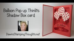 Shadow Box Card using the Balloon Adventure Bundle from Stampin'Up! - YouTube